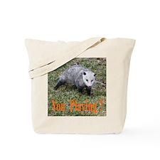 Playing Possum Tote Bag