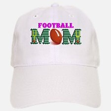 Pink Football Mom Baseball Baseball Cap