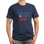Let's Stay Together 2012 Men's Fitted T-Shirt (dar