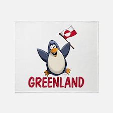 Greenland Penguin Throw Blanket