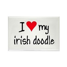 I LOVE MY Irish Doodle Rectangle Magnet