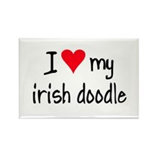 I LOVE MY Irish Doodle Rectangle Magnet (10 pack)