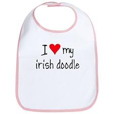 I LOVE MY Irish Doodle Bib