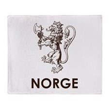 Norge Throw Blanket