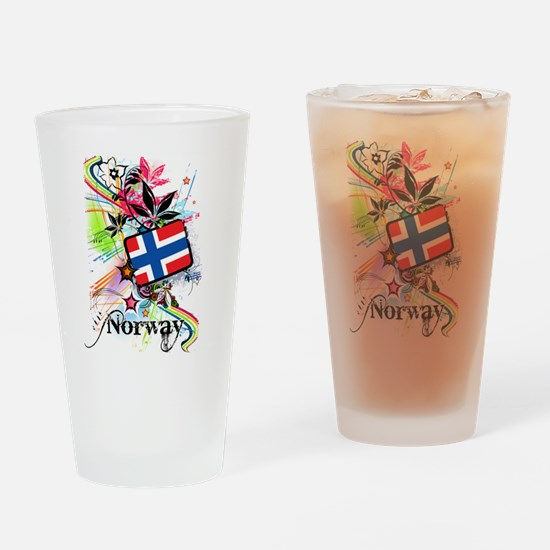 Flower Norway Drinking Glass