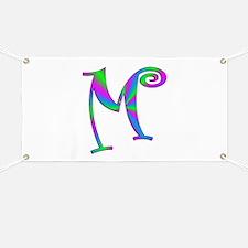 M Monogram Banner