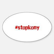 #stopkony Sticker (Oval)