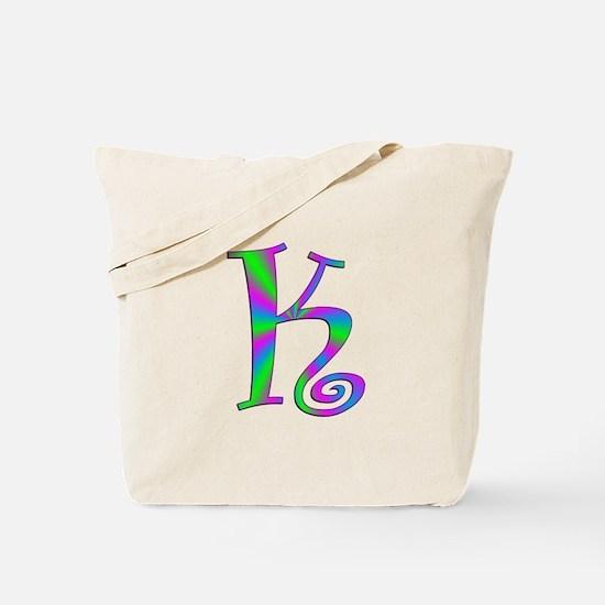 K Monogram Tote Bag