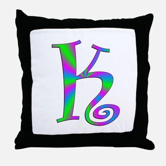 K Monogram Throw Pillow