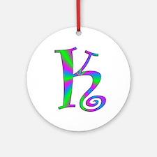 K Monogram Ornament (Round)