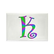 K Monogram Rectangle Magnet