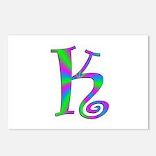 K Monogram Postcards (Package of 8)