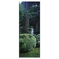 Statue in a garden, Sanzenin Temple, Ohara, Kyoto  Poster