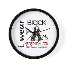 I Wear Black 43 Skin Cancer Wall Clock