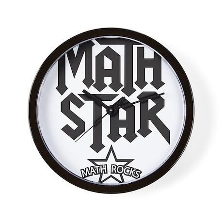 Math Star Wall Clock
