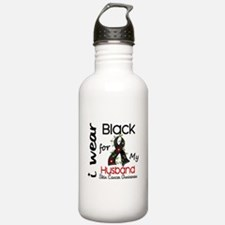 I Wear Black 43 Skin Cancer Water Bottle