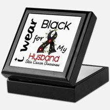 I Wear Black 43 Skin Cancer Keepsake Box