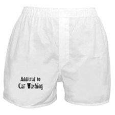 Addicted to Car Washing Boxer Shorts