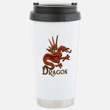 Fire Red Dragon Travel Mug