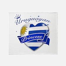 Uruguayan Princess Throw Blanket