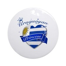 Uruguayan Princess Ornament (Round)