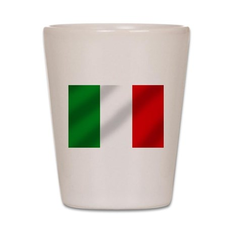 Flag of Italy Shot Glass