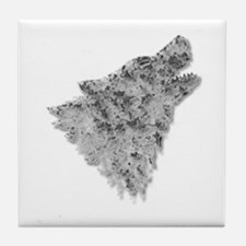 The Wolf Tile Coaster