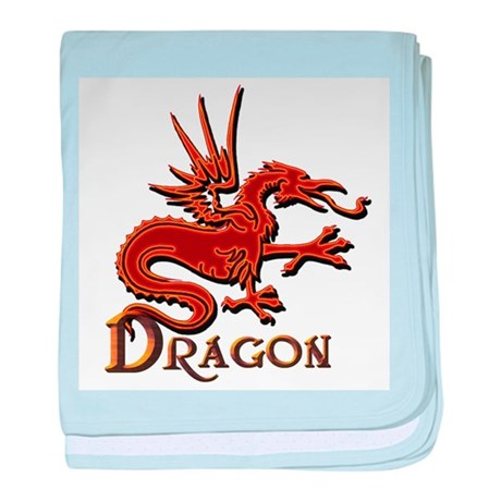 Fire Red Dragon baby blanket