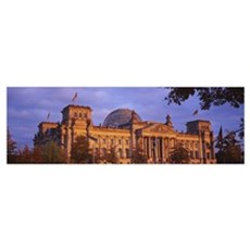 Facade of a building, The Reichstag, Berlin, Germa Poster