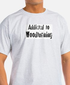 Addicted to Woodturning Ash Grey T-Shirt