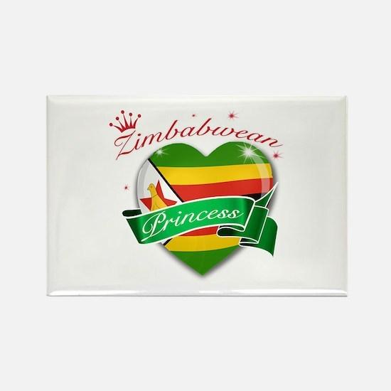 Zimbabwean Princess Rectangle Magnet