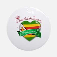 Zimbabwean Princess Ornament (Round)