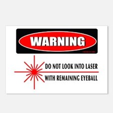 Laser Do Not Look Into Laser Postcards (Package of