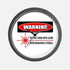 Laser Do Not Look Into Laser Wall Clock