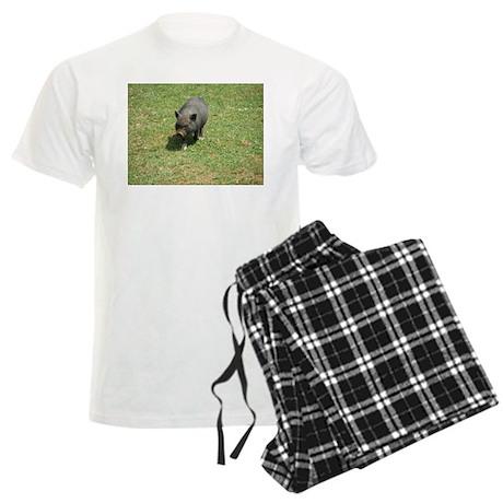 Pot Bellied Pig Men's Light Pajamas