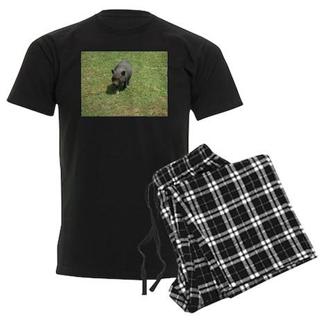 Pot Bellied Pig Men's Dark Pajamas