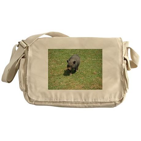 Pot Bellied Pig Messenger Bag