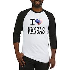 I LOVE KANSAS Baseball Jersey