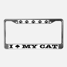 I Spade My Cat License Plate Frame