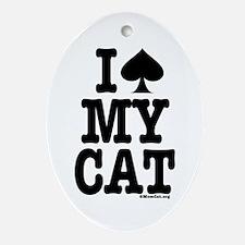 I Spade My Cat Ornament (Oval)