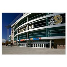 Low angle view of a sports stadium, Alamodome, San Poster