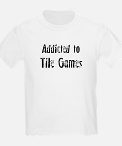 Addicted to Tile Games Kids T-Shirt