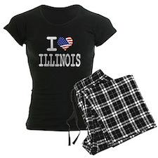 I LOVE ILLINOIS Pajamas