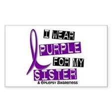 I Wear Purple 37 Epilepsy Decal