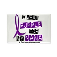 I Wear Purple 37 Epilepsy Rectangle Magnet (10 pac