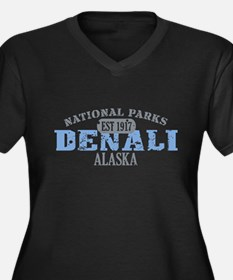 Denali National Park Alaska Women's Plus Size V-Ne