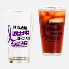 I Wear Purple 37 Epilepsy Drinking Glass