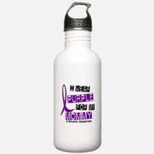 I Wear Purple 37 Epilepsy Water Bottle
