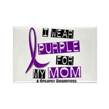 I Wear Purple 37 Epilepsy Rectangle Magnet (10 pac