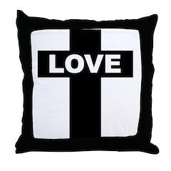 LOVE CROSS Throw Pillow